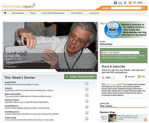 World Vision Report Homepage 111210