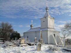 Hilltop Chapel (Stephen Lioy) Tags: winter snow church graveyard tombstone steeple moldova chishinau romanorthodox lpfrozen