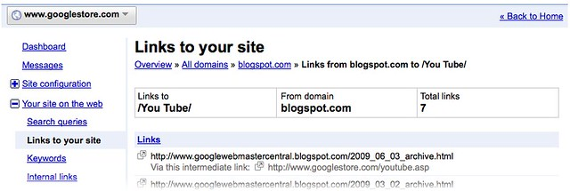 URL Redirects Google Webmaster Tools