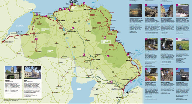 Causeway Coastal Route mapa Oficial