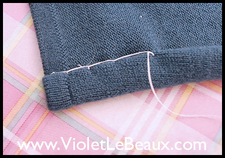 Tutorial- Reshaping a Sweater into a Cardigan