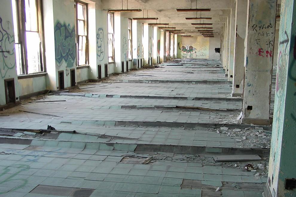 Michigan Central Station upper floor interior
