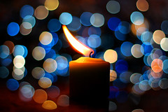 Candle flame (grazanna) Tags: colors lights candle bokeh flame candela fiamma canon50mm supercontest quotidiae