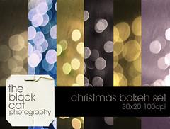 TBCP Christmas Bokeh Set (The Black Cat Photography) Tags: texture textura merrychristmas feliznavidad textureset theblackcatphotography