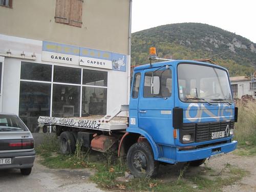 Camió Renault grua a Rià (El Conflent)