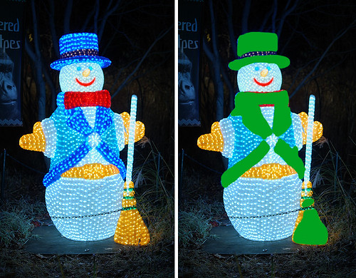 Saint Louis Zoological Garden, in Saint Louis, Missouri, USA - snowman with out of gamut colors