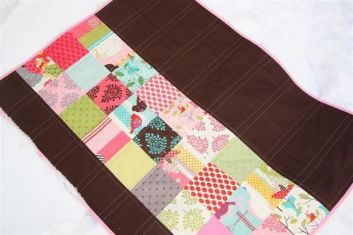 Chocolate Momo quilt