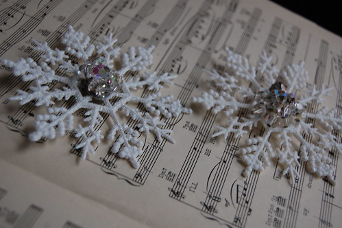 Vintage Earring Snowflake Ornaments