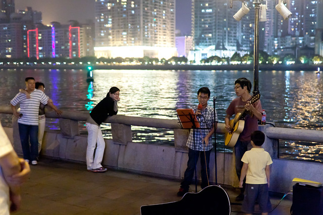 Waterfront musicians in Guangzhou