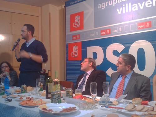 Hernando, Lissavetzky, Lucas, Méndez y Martín en la Cena de Navidad