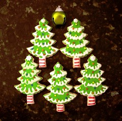 christmas trees (SugarDeaux) Tags: snowflakes christmastree holly santahat christmascookies jinglebell christmasstocking