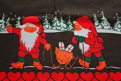 Christmas old canvas Sweden (Ankar60) Tags: santa christmas sweden decoration canvas textile fabric sverige claus jul duk juldekoration