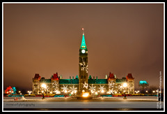 The Christmas Lights on Parliament Hill