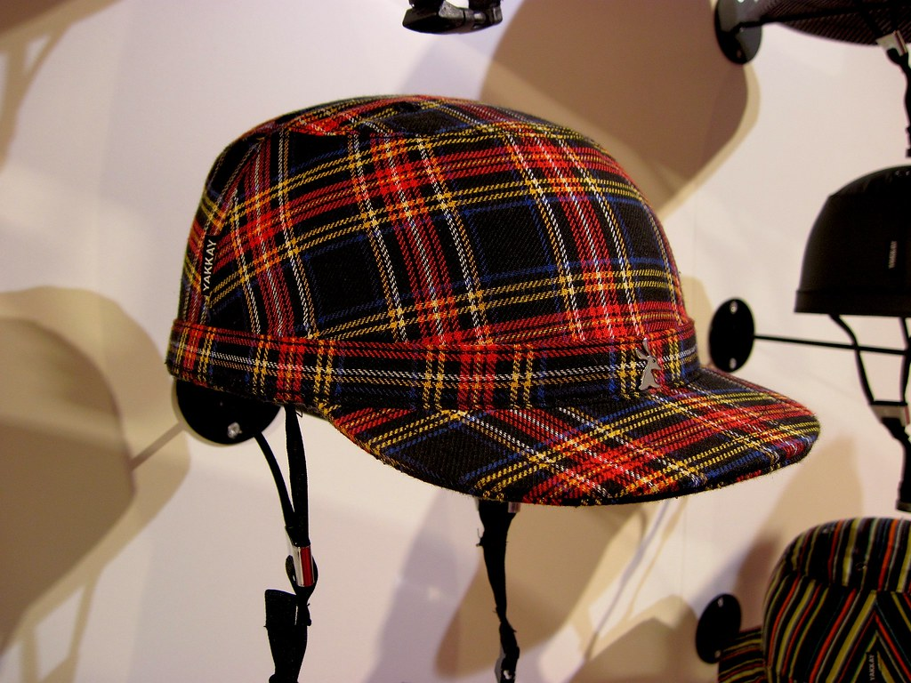 The most stylish fabric covered tartan bicycle helmet ever?