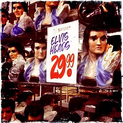 356/365: Elvis Heads (*Lemur*) Tags: toronto sale elvis heads honesteds kitch busts iphone elvispresley project365 hipstamatic