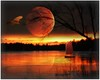 ~~~ a gift of the moon ~~~ (xandram) Tags: sunset lake texture sailboat photoshop hawk gift solsticemoon theunforgettablepictures marcussurrealleous selectbestexcellence sbfmasterpiece