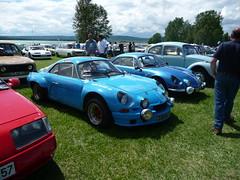 Renault Alpine A110 (kity54) Tags: auto old blue france cars car de french automobile francaise lac voiture renault panasonic bleu alpine coche older dmc coup francais bleue ancienne ancien  sportive a110 rtro vhicule losange madine tz5 rtromeuse