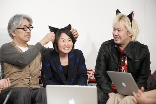 坂本さんに猫耳つけてもらっちゃった♡