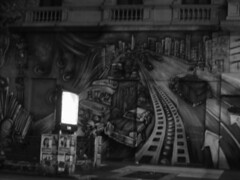 Mural (Lara Lew) Tags: street city building night lights luces noche calle edificios buenosaires downtown centro ciudad nocturna