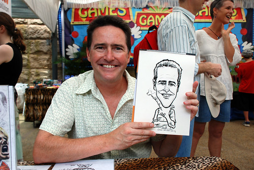 Caricature live sketching for BHP Billiton Family Day 2010- 18