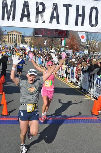 Philly Marathon Finish, 2009