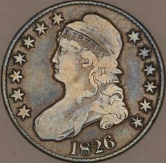 Silas Perkins Engraved half dollar obverse