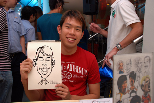 Caricature live sketching for BAT White Christmas Party 2010 - 15