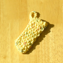 Country Print Exfoliating Knit Cotton Face Scrubber (Yellow, Green, Red) (vnbc) Tags: kitchen face bathroom shower bath dish body handmade knit dishcloth cotton bathe dishes etsy facial washcloth scrubber facescrubber vnbcsknittedthings