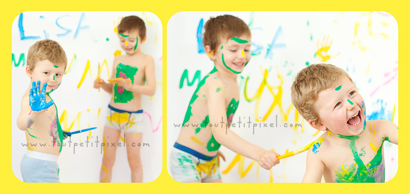 photo enfants peinture