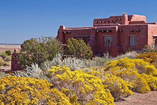 Painted Desert Inn and Autumn Blossoms