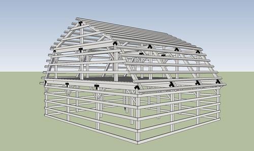 Gambrel Roof Pole Barn