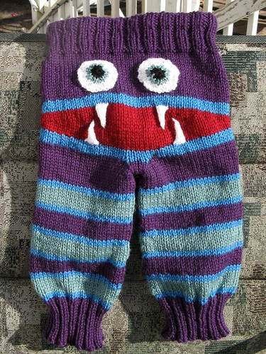 FO Friday: Monster Bum Baby Longies Remily Knits