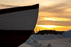 Sunset moment (Hkan Dahlstrm) Tags: winter sunset snow boat skne sweden front f56 skane helsingborg hamn 2011 fav10 r ef85mmf18usm canoneos5dmarkii sek