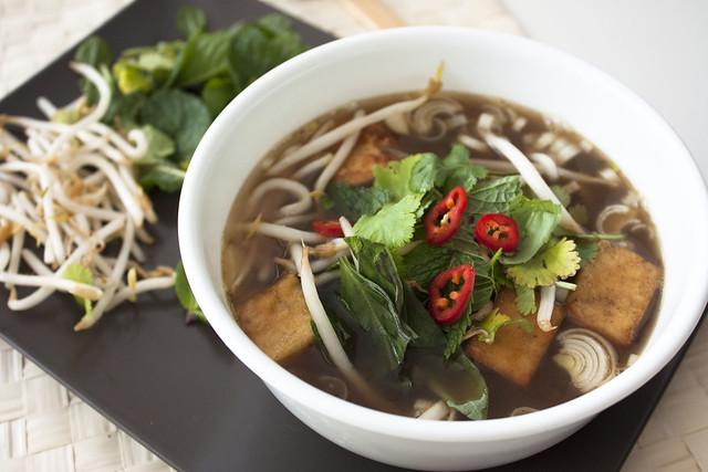 Vegetarian Vietnamese Phở Chay Vegan Noodle Soup (Pho)