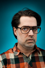 Stock-114-20110107.jpg (T. Scott Carlisle) Tags: glasses rocks teal products judy lumberjack plm tsc plaidshirt tscottcarlisle tscottcarlislecom