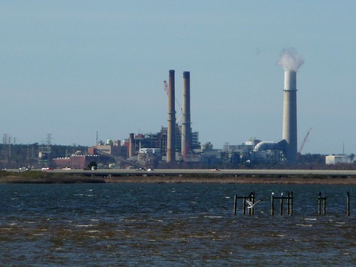 Gulf Power's Crist Plant seen from Floridatown Park