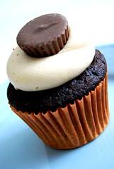 Peanutbutter Chocolate Cupcake* (Dtailliste) Tags: colour cake yummy sweet chocolate cupcake bake frosting peanutbuttercupcake