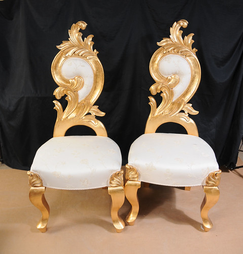 Pair French Funky Grotto Chairs Thrones (1) by canonburyantiques