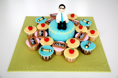 Cakes for a teacher :)