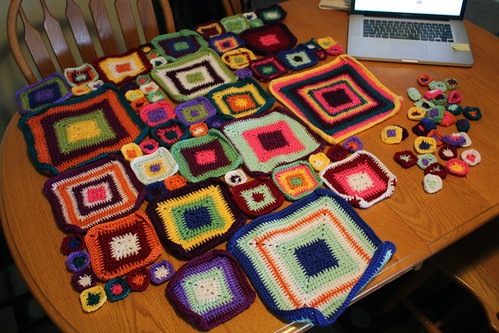 Vivid Dreams Blanket squares