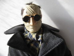 The Invisible Man - Jack Griffin on the Prowl 1556 (Brechtbug) Tags: new york city shadow man film halloween sunglasses monster scarf movie jack toy toys scary shoes gun shadows with action invisible dr gloves doctor camouflage figure horror terror claude shorts monsters universal transparent mad creatures creature figures bandage griffin sideshow rains scientist bandages fright prowl the