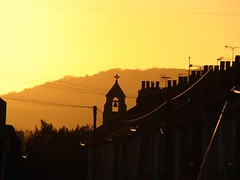 Borstal at sunset 003 (Kellie Burroughs) Tags: sunset silhouette spire rochesterwinter2010