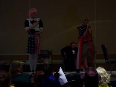 America singing the National Anthem