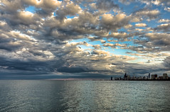 I Am Lost But Now I'm Found (benchorizo) Tags: chicago skyline clouds nikon cityscape lakemichigan montrose chicagoist banias d90