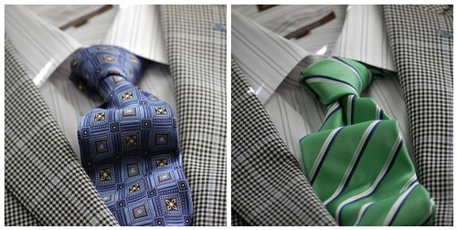 Grey Striped Shirt Ties Mosaic
