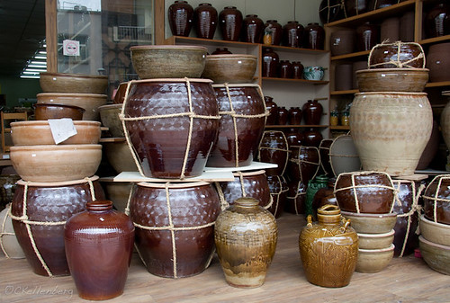 Giant pots in Yingge