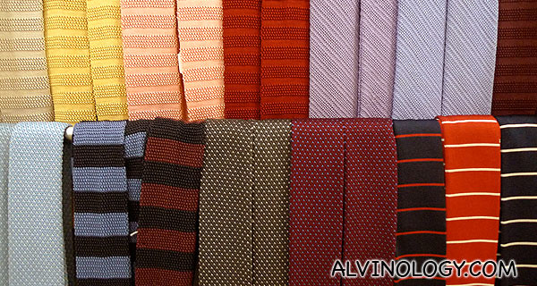 Colourful neck ties