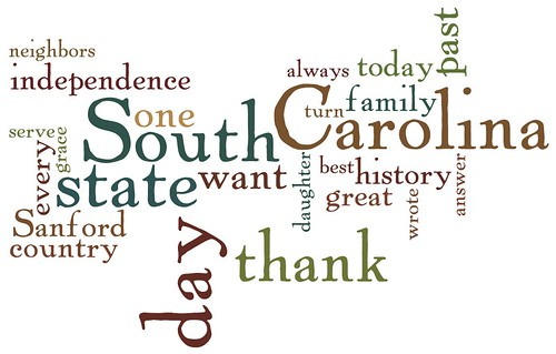 Top 25 Words in Haley's Inuagural Speech as Governor of SC