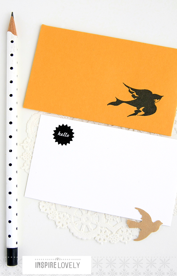swallows little note set
