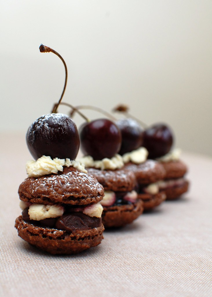 Black Forest Macarons #5